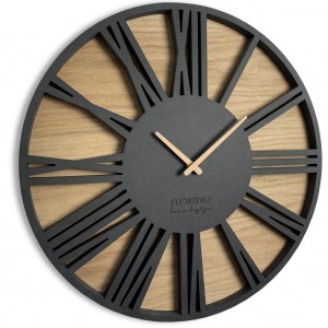 Black wall Clock with Roman Numerals 50cm (20in)