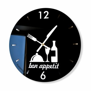 Kitchen clock bon appetit