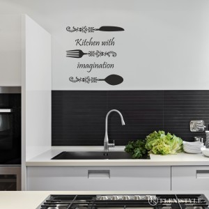 Napis na ścianę naklejka KITCHEN witch IMAGINATION