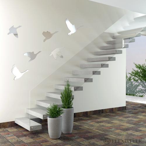Acylic Decorative Mirror Swans