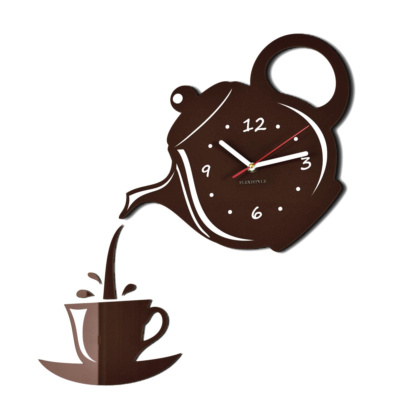Zegar ścienny Do Kuchni Dzbanek Z Filiżanką