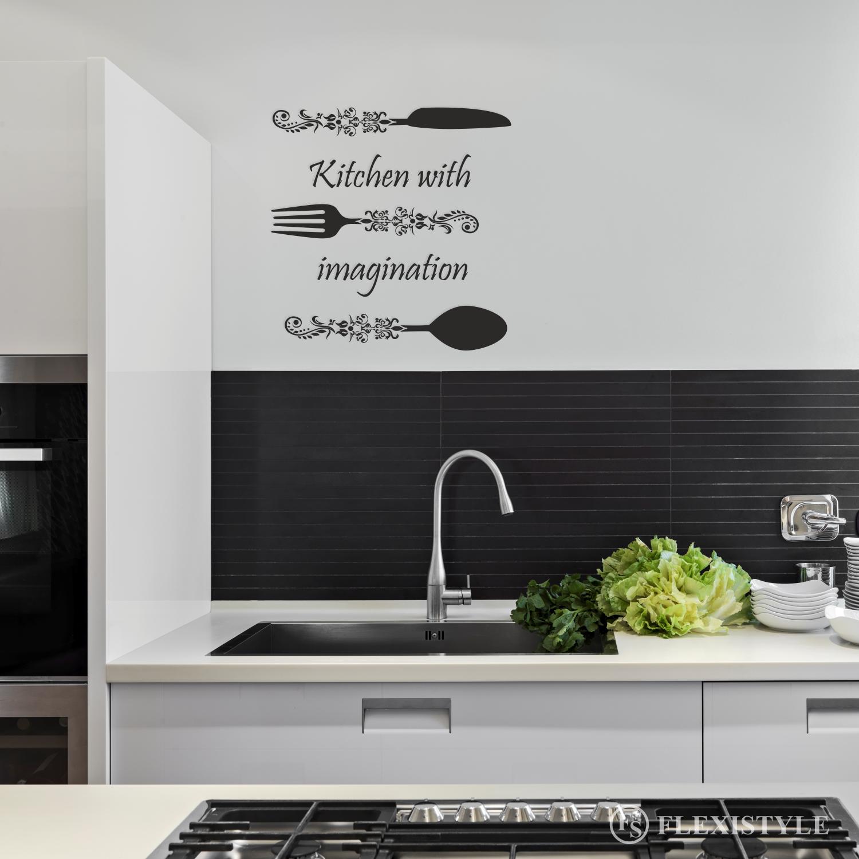 Napis Na ścianę Naklejka Kitchen Witch Imagination